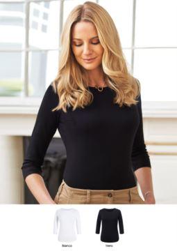 Elegantes Hemd aus Viskose und Elastan Stretchmodell. Ideal fuer Empfangspersonal, Hostessen, Hoteliers. Fordern Sie ein Angebot an.
