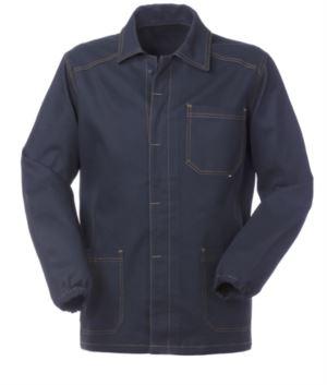 Arbeitsjacke blau Farbe 100% Baumwolle nicht schrumpfbar
