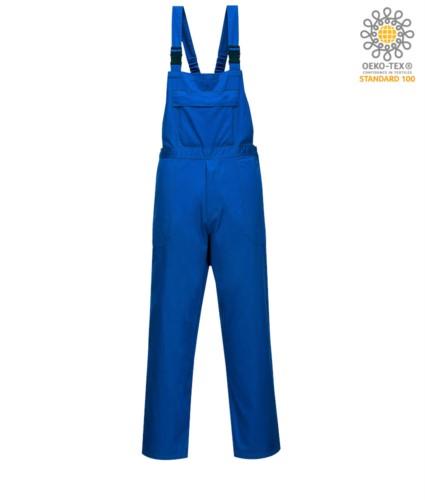Feuerwehr-Laetzchen, Mitteltasche, verstellbare Schultergurte, zertifiziert nach EN 13034, Farbe Royalblau