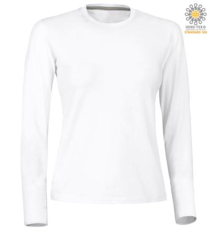 Herren Kurzarm-T-Shirt mit dreifarbigem Detail auf Baumwollaermelboden, Farbe weiss