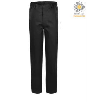 Stretch Arbeitshose klassische Passform, Multisaison, Farbe schwarz
