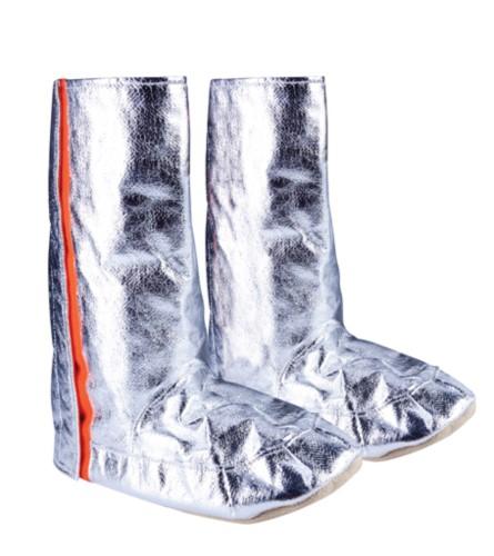 Approach-Stiefel, Para-Aramidsohlen, Seitenöffnungen mit Klettverschluss, silberfarben, zertifiziert nach EN 1486