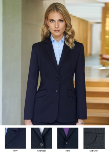 Damenjacke fuer elegante Arbeitsuniform, Polyester- und Wollstoff.