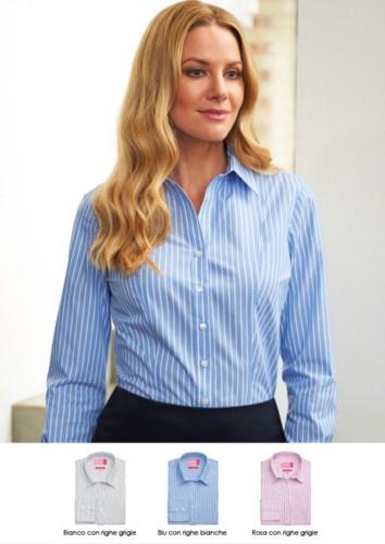 Polyester- und Baumwollhemd aus leichtem Eisengewebe. Ideal fuer Empfangspersonal, Hostessen, Hoteliers. Grosshandel. Fordern Sie ein kostenloses Angebot an.