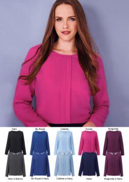 Elegantes Damenhemd aus Polyester, erhaeltlich in 10 Farben. Ideal fuer Empfangspersonal, Hostessen, Hoteliers. Fordern Sie ein kostenloses Angebot an