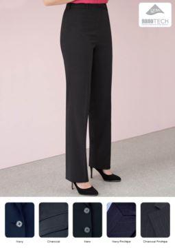 Elegante gerade geschnittene Hose, Wolle und Polyestergewebe mit fleckenabweisender Ausruestung. Kontaktieren Sie uns fuer ein kostenloses Angebot.