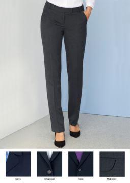 Elegante Damenhose aus Polyester und Wolle, mit knitterfestem Stoff. Ideal fuer Empfangspersonal, Hostessen, Hoteliers.