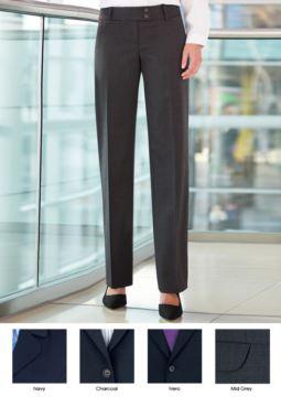 Elegante Arbeitshose fuer elegante Uniformen. Anti-Faltengewebe aus Polyester und Wolle. Ideal fuer Empfangspersonal, Hostessen, Hoteliers. Grosshandel.