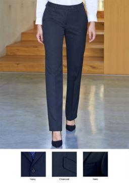 Elegante Damenhose aus Polyester und Viskose mit einem Gewicht von 390 g/qm. Ideal fuer Empfangspersonal, Hostessen, Hoteliers.