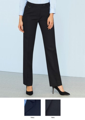 Elegante Hose aus 100% Polyestergewebe, marineblau und schwarz.  Ideal fuer Empfangspersonal, Hostessen, Hoteliers.