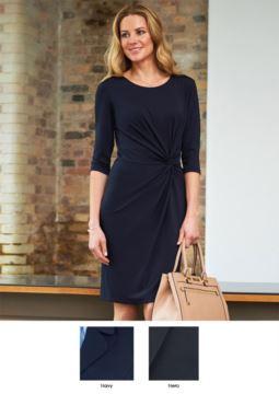 Elegante Berufsbekleidung fuer Berufsbekleidung. Kleid mit schmutzabweisender Behandlung aus Polyester und Viskose.