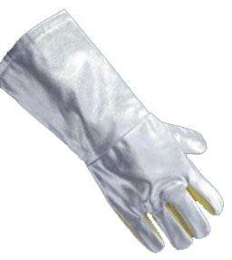Anflughandschuhe, reduzieren die Waermeleitung, Innenhand aus Para-Aramid, abriebfest, Laenge 45 cm