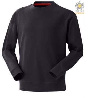 blaues Herren Rundhalsausschnitt Arbeit Sweatshirt