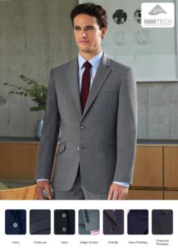 Massgeschneiderte Jacke aus schmutzabweisendem Polyestergewebe und Wolle. Ideal fuer Portier-, Hotel- und Rezeptionistenuniformen. Nur fuer den Grosshandel. Fordern Sie ein kostenloses Angebot an.