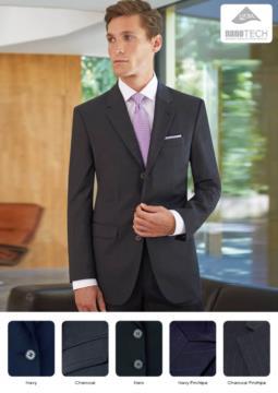 Jacke fuer elegante Arbeitsuniform, 100% Polyestergewebe, Farben Blau Marine, Schwarz. Ideal fuer Portier-, Hotel- und Rezeptionistenuniformen. Fordern Sie ein kostenloses Angebot an.