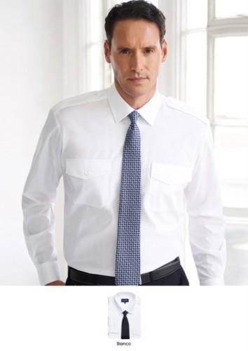 Herrenhemd lange ärmel Elegantes Herrenhemd aus Polyester und Baumwolle, mit leichtem Eisengewebe.
