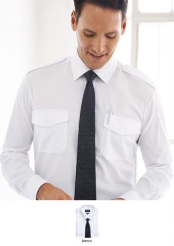 Herren-Langarmhemd aus Polyester und Baumwolle, Gewebe mit leichten Buegeleigenschaften. Ideal fuer Uniformen von Portier, Hotel, Rezeptionist. Fordern Sie ein kostenloses Angebot an.