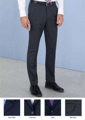 Elegante, schmal geschnittene Herrenhose, zwei Leistentaschen, Wolle und Polyestergewebe mit knitterfreiem Gewebe. Kontaktieren Sie uns fuer ein kostenloses Angebot