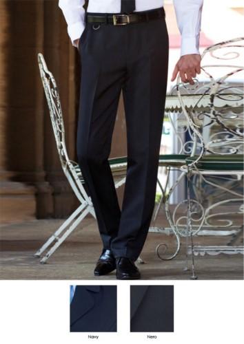 Elegant geschnittene Herrenhose, zwei Leistentaschen, 100% Polyester. Fordern Sie ein kostenloses Angebot an.