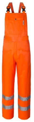 Warmlaetzchen, Doppelband an der Unterseite des Beines, Tasche an der Laetzchen, verstellbare Schultergurte, EN 20471 zertifiziert, Farbe orange