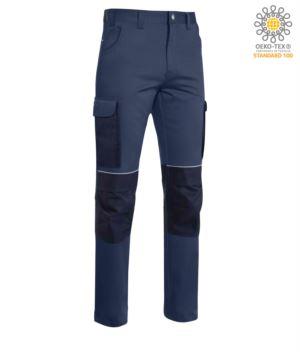 Mehrtaschenhose aus Cordura mit verstaerkten Einsaetzen aus Cordura, Farbe blau