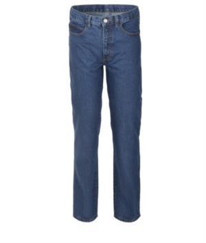 Arbeitshose in Jeans 100% Baumwolle, Farbe denim blau