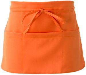 Schuerze mit Spitzenverschluss, Farbe orange