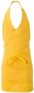 Schuerze mit zentraler Einzeltasche, Farbe gelb