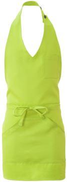 Schuerze mit zentraler Einzeltasche, Farbe saeuregruen