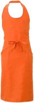 Schuerze mit Taschen und kleinen Taschen, aus Polyester, Farbe orange