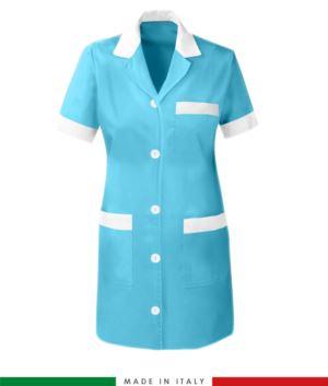 Damen Arbeitskleid Aermel Farbe Zuckerpapier