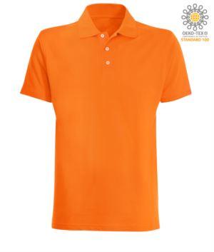 Kurzarm Poloshirt aus orange Jersey