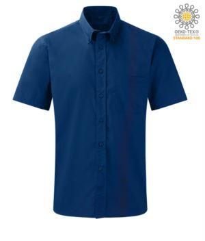 Mann kurzarm Arbeit Uniformhemd Hemd Blau Farbe