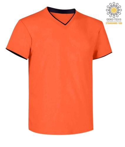 Kurzarm V-Ausschnitt T-shirt