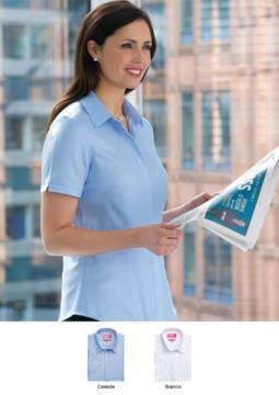 Elegantes Hemd fuer die Arbeitsuniform (Empfangsdame, Hostess, Hoteliers). Grosshandel. Fordern Sie ein kostenloses Angebot an