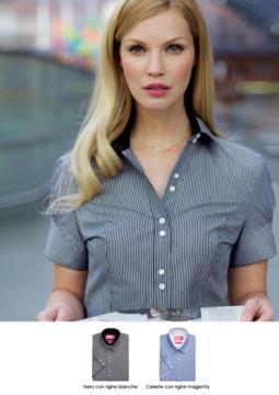 Elegantes Hemd fuer die Verwendung als Arbeitskleidung. Baumwoll- und Polyestergewebe. Grosshandel. Fordern Sie ein kostenloses Angebot an.