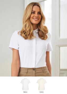 Elegantes Hemd aus Polyester und Elastan. Bekleidung fuer Empfangspersonal, Hostessen, Hoteliers. Fordern Sie ein kostenloses Angebot an