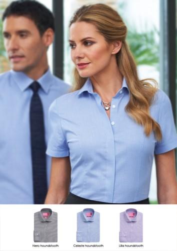 Damenhemd fuer elegante Arbeitsuniform. Polyester und Baumwollgewebe. Grosshandelsverkauf. Fordern Sie ein kostenloses Angebot an