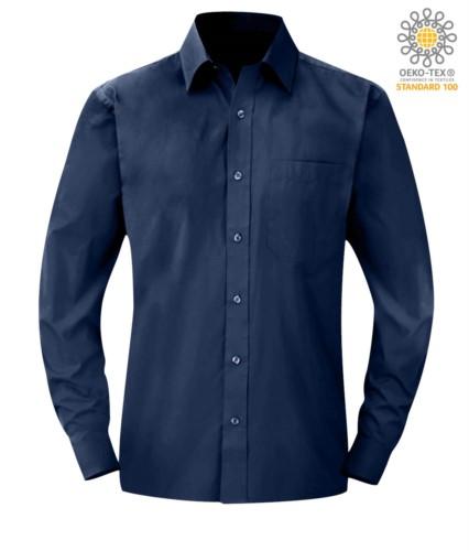 Herren Langarmshirt Blau Farbe für den professionellen Einsatz
