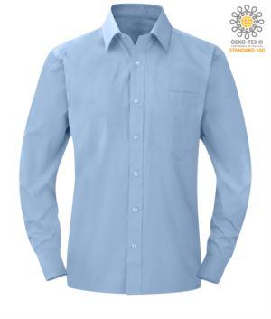 Herren Langarmshirt Himmelblau Farbe für den professionellen Einsatz