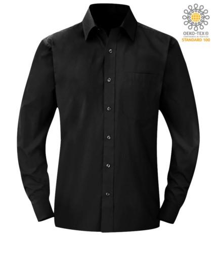 Herren Langarmshirt Schwarz Farbe für den professionellen Einsatz