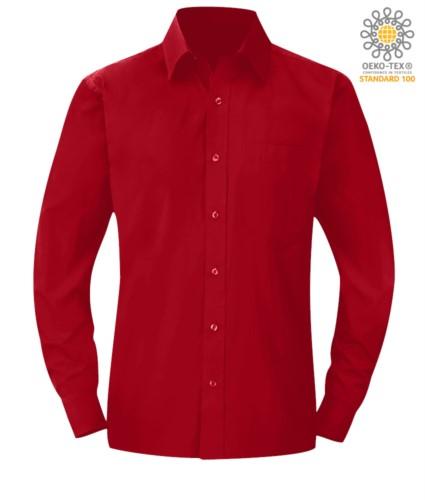 Herren Langarmshirt Rot Farbe für den professionellen Einsatz