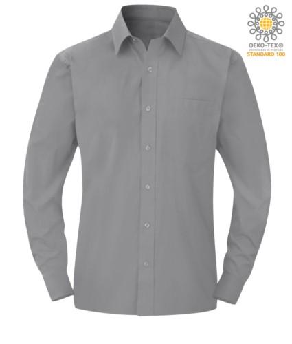 Herren Langarmshirt Silber Farbe für den professionellen Einsatz
