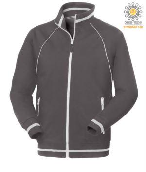 Arbeits Sweatshirt aus Baumwolle und Polyester Grau mit Anti Wasser Behandlung