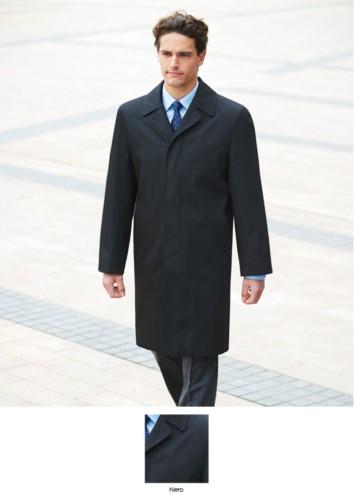 Weisses Herren-Kurzarmhemd, klassisches Fit-Modell, aus Polyester und Baumwolle. Leichtes Buegeleisengewebe. Ideal für elegante Berufsbekleidung.