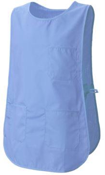 Mantel mit Taschen, mit seitlicher Verstellmöglichkeit durch Schnürung, Farbe hellblau