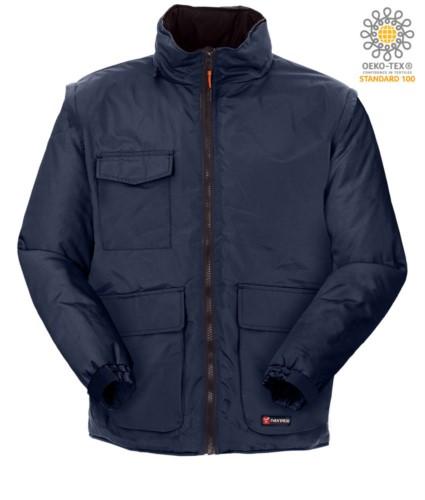 Mehrtaschen Jacke mit abnehmbaren Aermeln