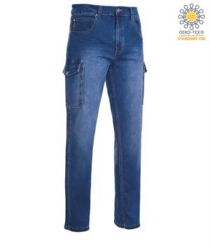 Multitasche Jeans Hose