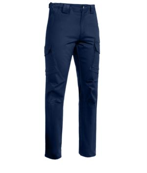 Arbeitshose mit mehreren Taschen aus Stretchmaterial Farbe blau