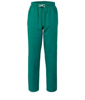 Hose mit kontrastierenden zweifarbigen Details an den Taschen. Farbe: gruen